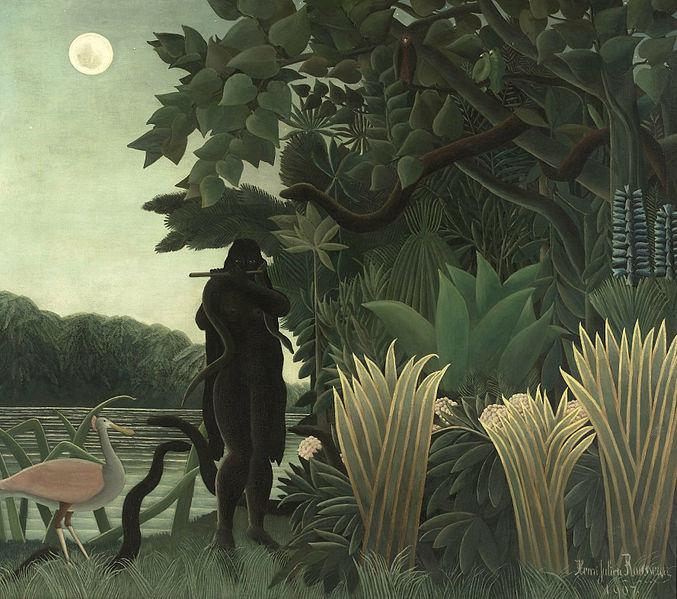 File:HENRI ROUSSEAU - La Encantadora de Serpientes (Museo de Orsay, París, 1907. Óleo sobre lienzo, 169 x 189.5 cm).jpg