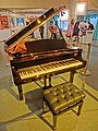 HKCL CWB Red Mission 張國榮歌影迷國際聯盟 Art of Leslie Cheung's Movie Images exhibition hall Grand piano n seat Apr-2013.JPG