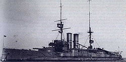 HMS Commonwealth vuosina 1907–1908.