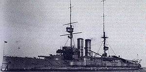 HMS Commonwealth (1903) - Image: HMS Commonwealth (1903) in 1907 1908