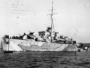 Photograph of HMS Ibis in 1941, from the Imperial War Museum