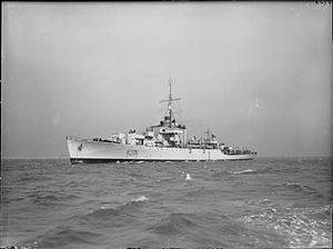 Nuclear weapons and the United Kingdom - HMS ''Plym'' in 1943.