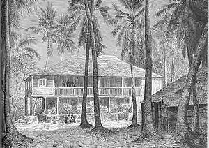 Port-au-Prince - Colonial mansion in Port-au-Prince, 18th century.