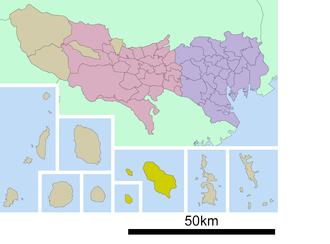Hachijō Subprefecture - The location of Hachijo Subprefecture