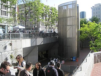 Powell Street station - Hallidie Plaza entrance to the station