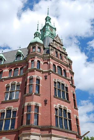 Speicherstadt - Hafenrathaus ('Harbour City Hall') in the Speicherstadt