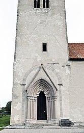 Fil:Hamra kyrka tornportal.jpg