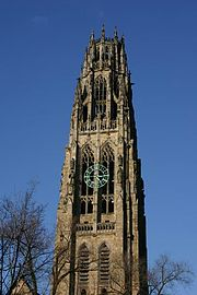 Harkness Tower, situated in the Memorial Quadrangle at Yale