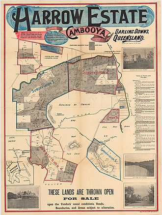 Cambooya, Queensland - Land sale around Cambooya, circa 1910