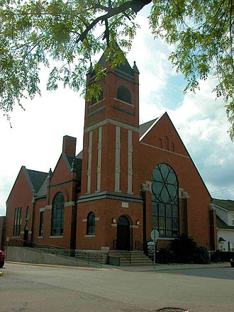 National Register of Historic Places listings in Blackford County, Indiana - Image: Hartford City Presbyterian Church Northwest Side