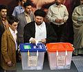 Hassan Khomeini voting.jpg