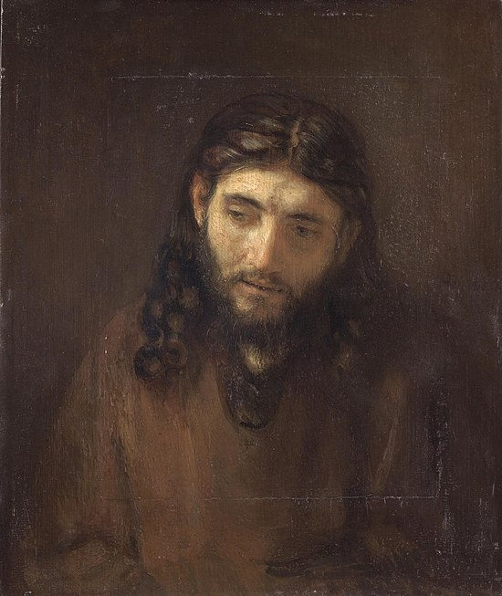 Head of Christ by Rembrandt (Philadelphia panel).jpg