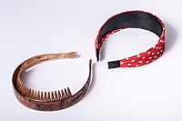 Headbands brown with comb and red with dots.jpg