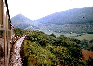 Heart of Wales line - The Heart of Wales line south of Sugar Loaf