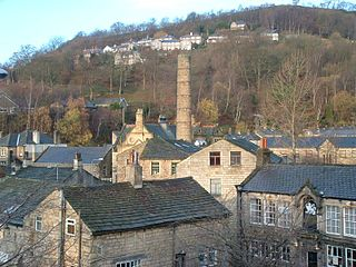 Hebden Bridge Town in West Yorkshire, England