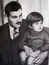 Эрнест Хемингуэй с сыном, 1926 год
