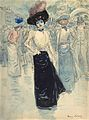 Henri Somm, A Parisienne on a Crowded Street.jpg