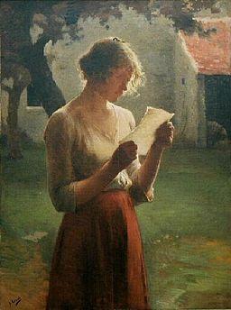 HenryLerolle Reading woman