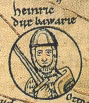 Henry I, Duke of Bavaria - Duke Henry of Bavaria in the pedigree of the Ottonian dynasty, Chronica sancti Pantaleonis, Cologne, 13th century
