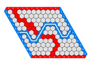 Hex (board game) - Image: Hex board 11x 11 (2)