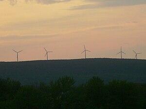 Moosic Mountains - Image: High Knob Turbines in Cannan Twp