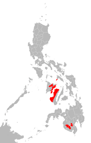Hiligaynon people - Areas where Hiligaynon is spoken