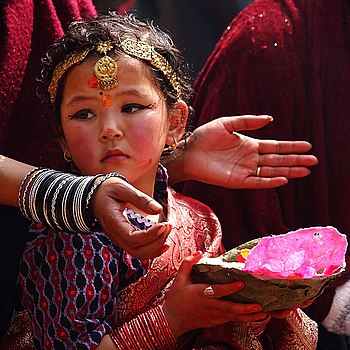 English: A hindu devotee in Nepal