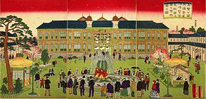 Hiroshige III - Image: Hiroshige III Daini hakurankai bijitsukan narabini funsuiki