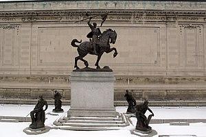 El Cid Campeador (sculpture) - Image: Hispanic society, ext., statua del cid