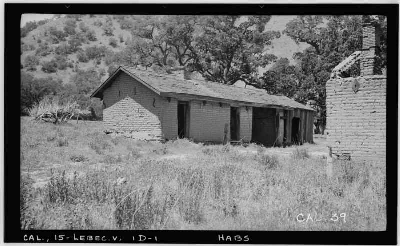 File:Historic American Buildings Survey Photographed by Henry F. Withey May 1937 SOLDIERS QUARTERS - NORTH AND EAST FRONTS - Fort Tejon, Soldiers' Quarters, Highway 99, Lebec, Kern HABS CAL,15-LEBEC.V,1D-1.tif