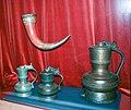 Historiska Museet, Drinking horn, tankards, pitcher, 2009-07-19.jpg