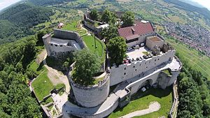 Hohenneuffen Castle - Aerial view of Hohenneuffen Castle in 2015