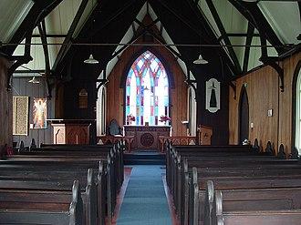Pakaraka - Image: Holy Trinity, Pakaraka,i interior