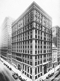 The Home Insurance Building in Chicago, by William Le Baron Jenney, (1884)