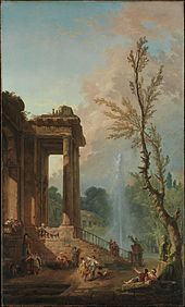 Hubert Robert - The Portico of a Country Mansion.jpg
