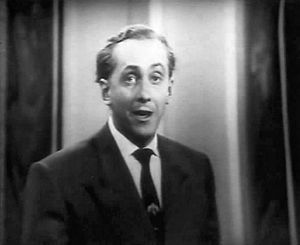 Hughie Green - Green presenting the first episode of Double Your Money, 1955