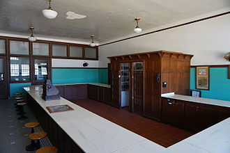 Fred Harvey Company - Harvey House Restaurant at the former Frisco Depot in Hugo, Oklahoma