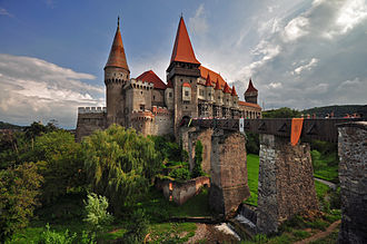 Corvin Castle - The castle and its moat