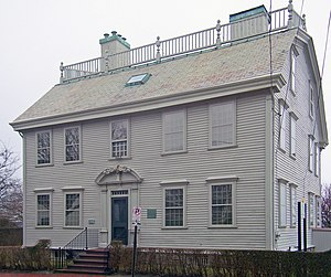 Hunter House (Newport, Rhode Island) - Front elevation of house in 2008