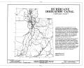 Hurricane Irrigation Canal, State Route 15 Vicinity, Hurricane, Washington County, UT HAER UTAH,27-HURI,1- (sheet 1 of 3).png