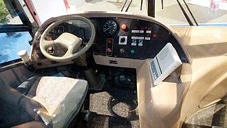 Hybrid Electric Road Train - Driver's cab.
