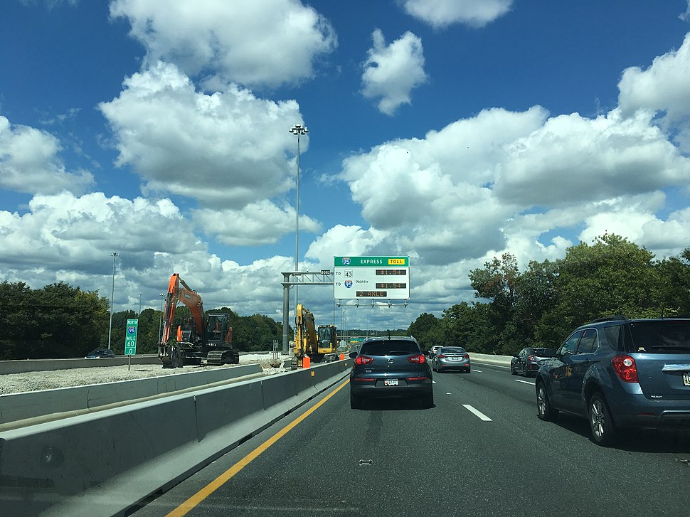Interstate 95 in Maryland - Howling Pixel