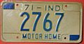 INDIANA 1971 -MOTOR HOME LICENSE PLATE - Flickr - woody1778a.jpg