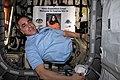 ISS-63 Cassidy inside Cygnus space freighter.jpg