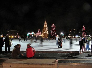 Skating rink at Victoria Park, London ON.