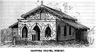 Igatpuri - Image: Igatpura Chapel, Bombay (Clutterbuck, p.199) Copy