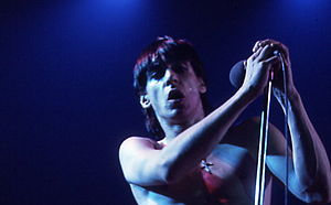 Iggy Pop performing at Massey Hall, Toronto, 1973