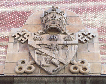 Coat of arms of Innocent VI.  at the Madrid Church of St. Genesius