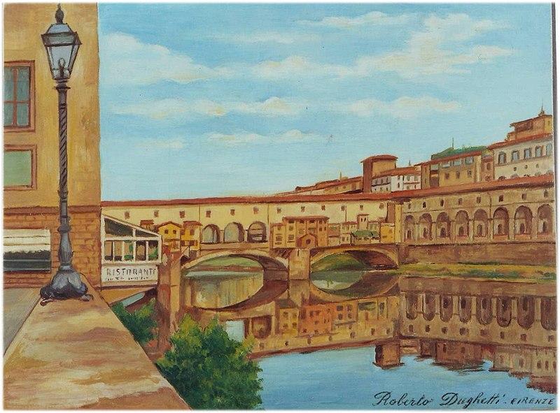 File:Il Ponte Vecchio Dughetti.JPG