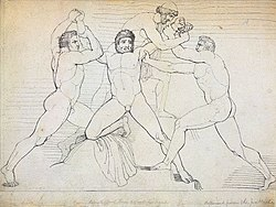 Illustration of the binding of Prometheus by John Flaxman.jpg